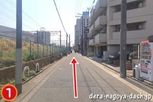 大曽根駅からナゴヤドームへの行き方(徒歩・JR南口)01