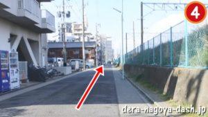 ナゴヤドームから大曽根駅南口への徒歩ルート(4.線路沿いを進みJR大曽根駅南口へ)