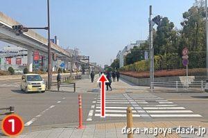 大曽根駅からナゴヤドームへの行き方(徒歩・北口・名鉄)01