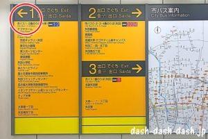 ナゴヤドーム前矢田駅(地下鉄名城線・ナゴヤドームへの案内表示)02