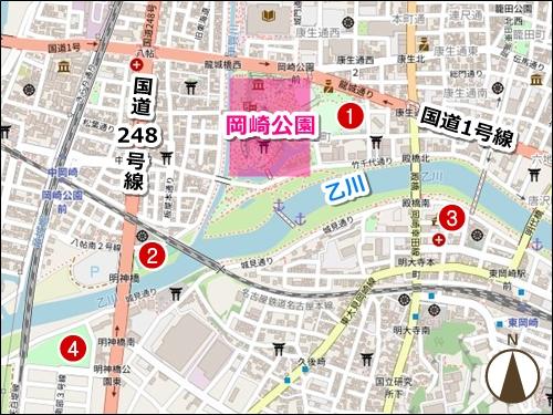 岡崎桜まつり駐車場マップ