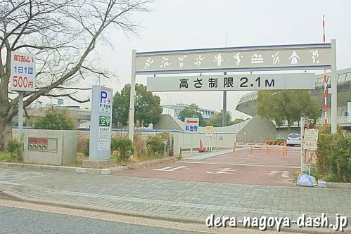 山崎川の桜の駐車場(パロマ瑞穂スポーツパーク駐車場)
