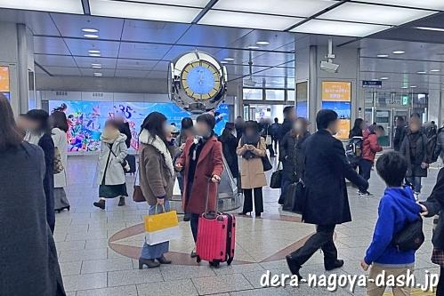 名古屋駅の銀時計(新幹線改札前)