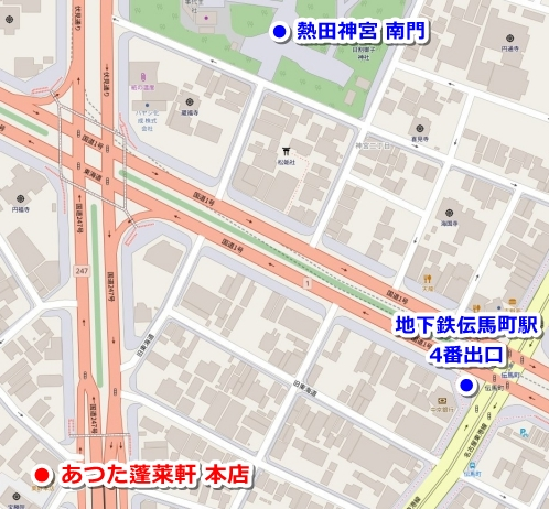 あつた蓬莱軒本店(熱田神宮周辺のひつまぶし)マップ