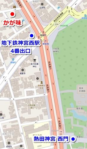 かが味(熱田神宮周辺のひつまぶし)マップ