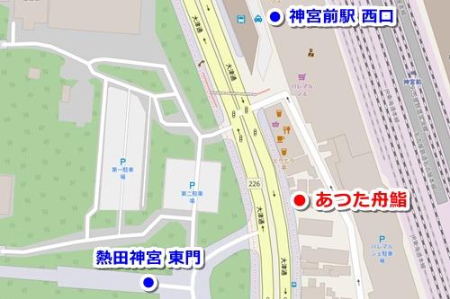 あつた舟鮨(熱田神宮周辺のひつまぶし)マップ