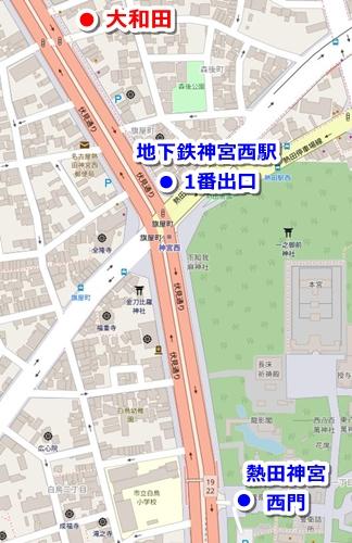 大和田(熱田神宮周辺のひつまぶし)マップ